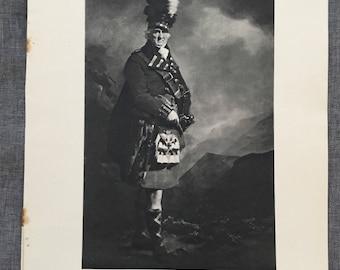 Raeburn. Macnab of Macnab. 1920's antique print