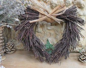 TWIGGY HEART WREATH for Decorating, Festive, Christmas, Xmas, Floral