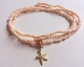 Pink Starfish Bracelet