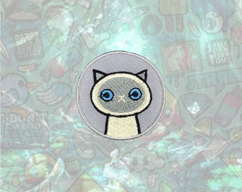 Siamese Cute Cat patch Cartoon Animal Patch Iron on Patch Sew On Patches