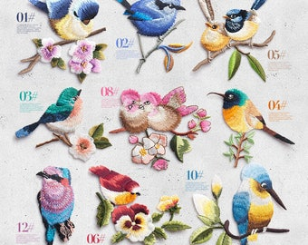 Bird Patch Iron on Patch Sew On Patches back patch Cute patch