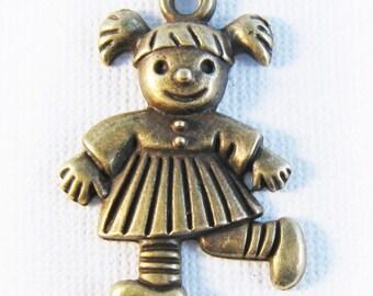 Little girl charm bronze