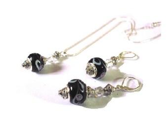 Dress woman black European beads