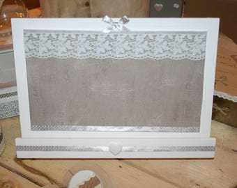 lectern for kitchen or bar taupe and white paper heart