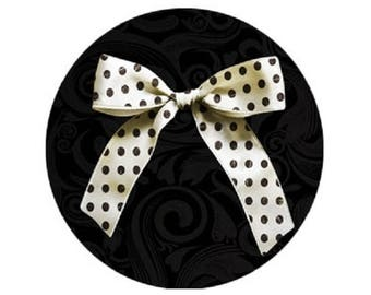 pretty bow with polka dots, 18mm