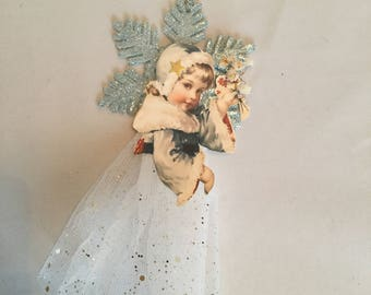 2 Christmas Angel ornaments