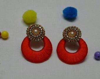 Red silk thread jewelry