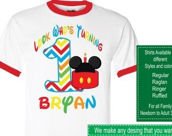 Mickey Mouse Birthday Shirt/Mickey Mouse Shirt/Mickey Mouse Party/Mickey Mouse/Mickey Mouse Birthday/Mickey Mouse Stickers/Mickey Mouse tutu
