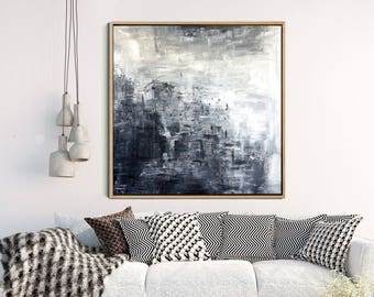 Modern Wall Art, Abstract Art, Black And White Print, Minimalist Poster,  Giclee