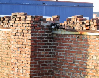 Red Brick Photo, Architecture, Old Building, Brick Wall, Digital Download Image, Color Photography Design