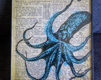 Framed Vintage Octopus Print