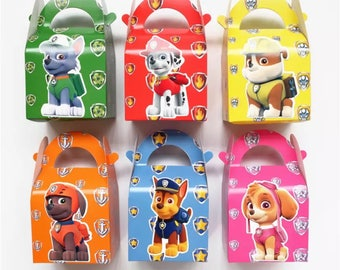 6x Paw Patrol Lolly Loot Party Lunch Box Bag. Party Supplies Banner Bunting Flag Deco Favour