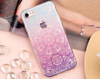 iPhone 8 Case Mandala iPhone 7 Case iPhone 6 Case TPU Case iPhone 8 iPhone 6S Plus Ornament iPhone 8 Plus Case iPhone 6 Case Clear CGD1029