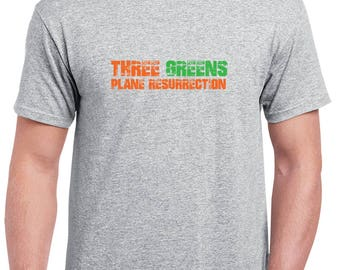 Plane Resurrection Grey 3 Greens T Shirt
