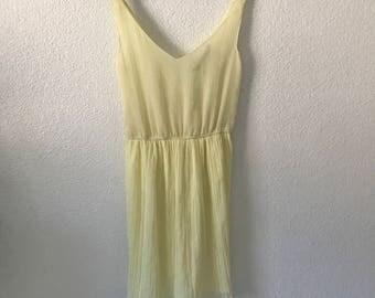 Sheer Yellow Dress