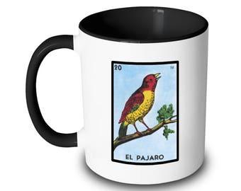 El Pajaro Mug Bird Loteria Card Mexican Bingo