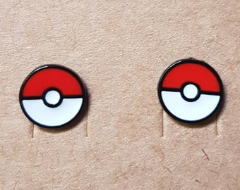 Pokeball Pokemon Earrings