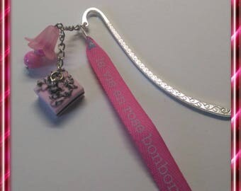 Gourmet bookmark pink polymer clay
