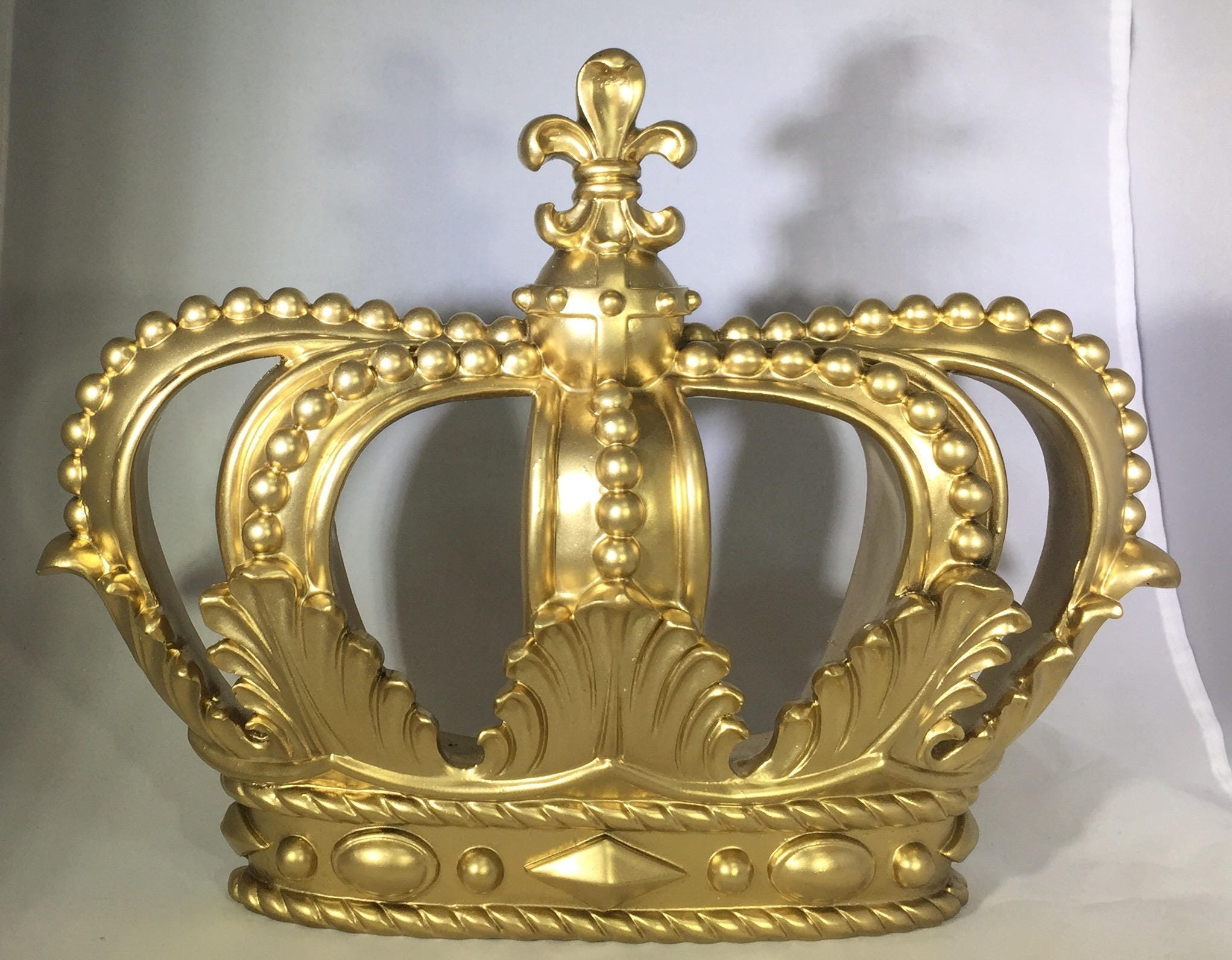 Black Crown Wall Decor : Gold crown wall decor metallic goldcanopy crownroyal prince