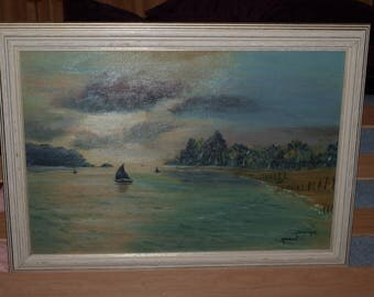 OIL PAINTING: SHABBY CHIC SUNSET