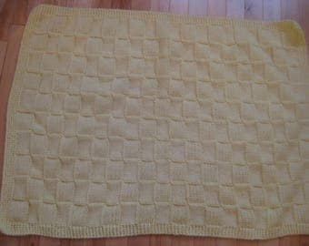 Beatiful handmade yellow blanket