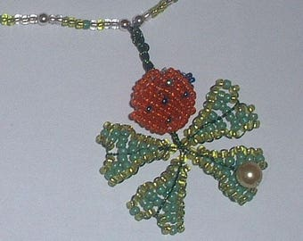 Necklace Ladybug on clover 4 sheets