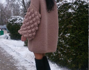 Oversized Sweater, Oversized Knit Sweater, Knit Sweater,Oversized Chunky Sweater,Hand Knit Sweater, Knit Sweater Women, Chunky Sweater Women