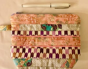 Japanese fabric clutch, pouch