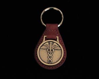 Vintage Medical Symbol Keychain