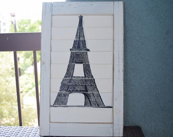 Eiffel Tower Drawing Shutter