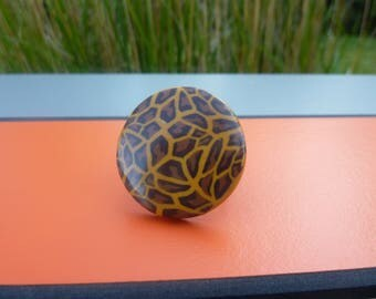 Brown leopard Adjustable ring