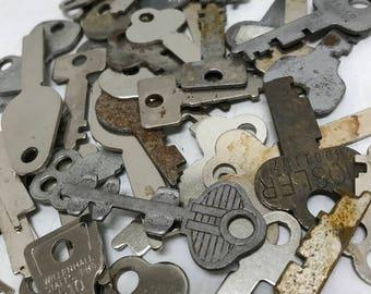 Vintage Flat Keys- Set of 50 (#2)