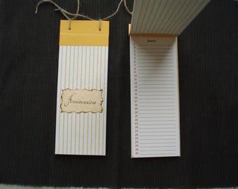 Journal - directory birthdays - yellow and white