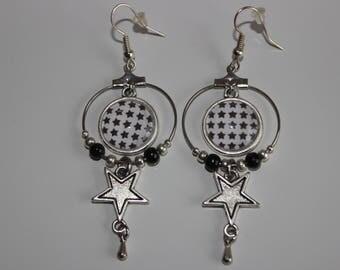 crochet pattern 14 mm cabochon earrings