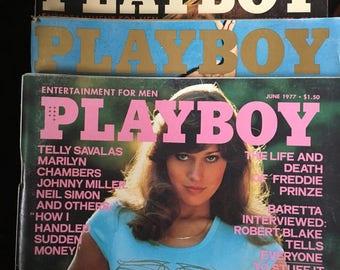 Playboy magazines 1977 and 1979