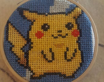 Pikachu cross stitch