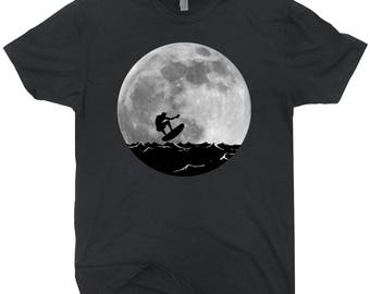 Surfing Full Moon T-shirt Retro Surfing Shirt