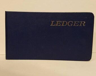 Navy Vintage Ledger