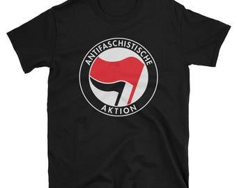 Antifa T-Shirt Antifaschistische Aktion German Logo Tee Unisex T-Shirt