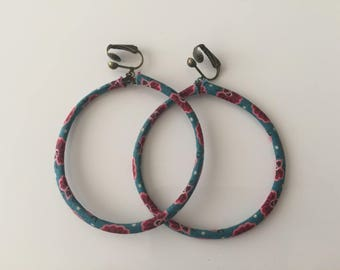 Hoop covered with liberty fabric