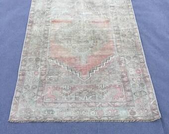 """Oushak Rug, Vintage Rug, Turkish Rug,Vintage Oushak rug,5.8x3.5""""ft,Home Living,Vintage Turkish Rug,Vintage Rug,Wool on cotton Handmade Rug"""