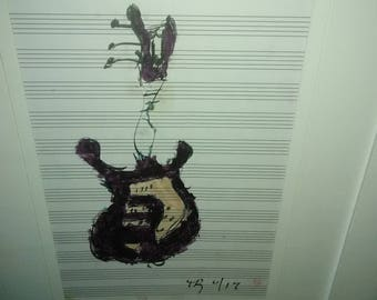 Groovy Guitar Art to Brighten Up Any Room. Guitar Art. Rock n Roll Chic