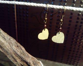 "Earrings ""heart"" White Cap"