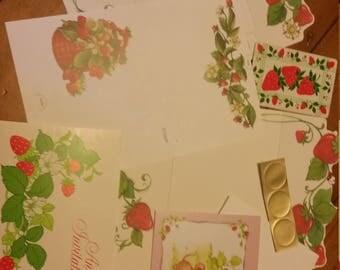 Vintage Stationery Collection ~ Vintage Strawberry Patch