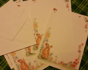 Vintage Stationery Collection ~ Mary Hamilton Mary's Bears Stationery Collection - Garden Bear