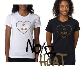 I love my Black/ MELANIN t shirts/ mommy and me black love shirt