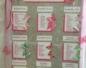 Tableua mariage Butterflies