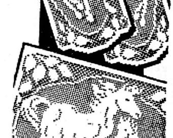 PDF Filet Crochet Pattern, Horses Chair Back Set with Arm Rests,