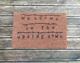 Welcome To The Upside Down Stranger Things Doormat