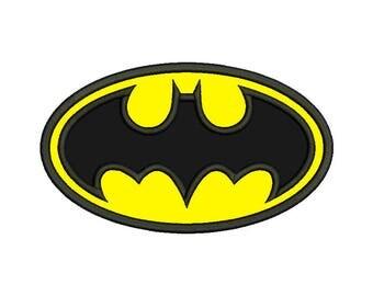Batman Emblem Applique Design - 4 SIZES
